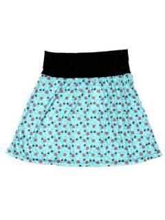 Faldas Hippie Étnicas - Falda Corta que también FASN22 - Modelo Azul