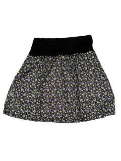 Faldas Hippie Étnicas - Falda Corta que también FASN22 - Modelo Negro