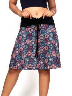 Hippie skirt with mandala print FASN23 to buy in bulk or in detail in the category of Alternative Hippie Clothing for Women.