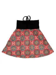 Faldas Hippies y Étnicas - Falda que también puede FASN25 - Modelo Naranja