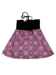 Faldas Hippies y Étnicas - Falda que también puede FASN25 - Modelo Rosa