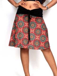 Ethnic Hippie Skirts - Hippie skirt with mandala print [FASN25] to buy in bulk or in detail in the category of Alternative Hippie Clothing for Women.
