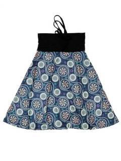 Faldas Hippie Étnicas - Falda que también puede FASN26 - Modelo Azul