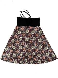 Faldas Hippie Étnicas - Falda que también puede FASN26 - Modelo Marrón