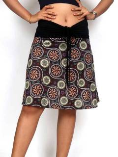 Hippie skirt with mandala print FASN26 to buy in bulk or in detail in the category of Alternative Hippie Clothing for Women.