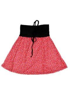 Faldas Hippies y Étnicas - Falda que también puede FASN27 - Modelo Rojo