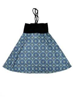 Faldas Hippie Étnicas - Falda que también puede FASN28 - Modelo Azul