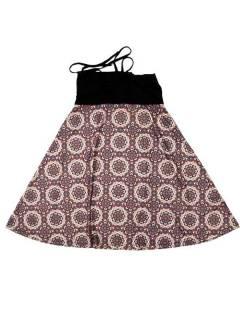 Faldas Hippie Étnicas - Falda que también puede FASN28 - Modelo Marrón