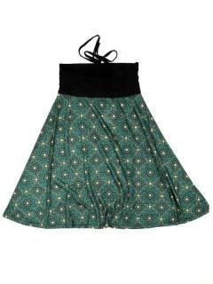 Faldas Hippie Étnicas - Falda que también puede FASN28 - Modelo Verde