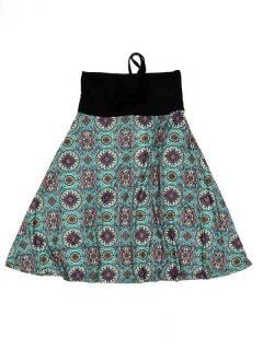 Ethnische Hippie-Kleider - Kleid, das auch FASN29-T - Blue Model