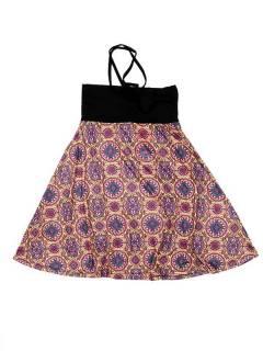 Ethnische Hippie-Kleider - Kleid, das auch FASN29-T - Modell Lila