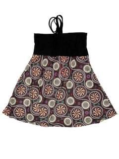 Robes hippies ethniques - Robe qui aussi FASN31-T - Modèle marron