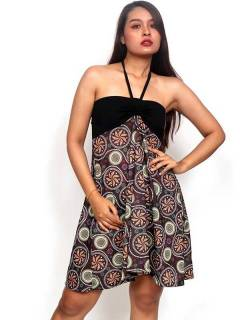Vestido Hippie con estampado de mandalas FASN31-T para comprar al por mayor o detalle  en la categoría de Ropa Hippie Alternativa para Mujer.