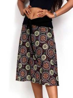 Ethnic Hippie Skirts - Hippie long skirt with mandala print [FASN31] to buy in bulk or in detail in the category of Alternative Hippie Clothing for Women.