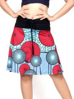 Gonna hippie con stampa etnica, da acquistare all'ingrosso o dettaglio nella categoria di abbigliamento hippie da donna | Negozio alternativo ZAS. [FASN34]