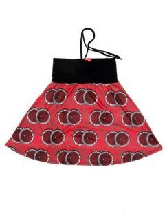 Faldas Hippies y Étnicas - Falda que también puede FASN36 - Modelo Rojo