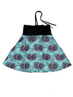 Faldas Hippies y Étnicas - Falda que también puede FASN36 - Modelo Azul