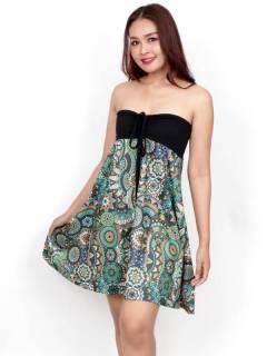 Vestido Hippie con estampado Etnico,  para comprar al por mayor o detalle  en la categoría de Ropa Hippie de Mujer | ZAS Tienda Alternativa. [FASN39-V]