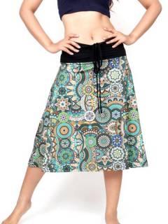 Falda Hippie larga con estampado Etnico,  para comprar al por mayor o detalle  en la categoría de Ropa Hippie de Mujer | ZAS Tienda Alternativa. [FASN39]