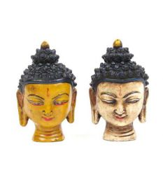 Decoración Etnica - cabeza buda cerámica, FIC2.
