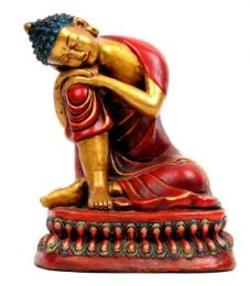 Sleeping Buddha figure made of ceramic decorated by artisans. Ethnic Decoration to buy wholesale or detail in the Alternative Ethnic Decoration category. Incense and Displays | ZAS Hippie Store. [FIC6]
