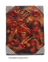 Óleos sobre lienzos motivos abstractos, bastidor de madera., para comprar al por mayor o detalle  en la categoría de Decoración Étnica Alternativa. Incienso y Expositores | ZAS Tienda Hippie.[FRLI1_A]