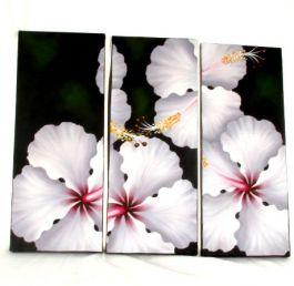 Triptico lienzos pintados motivos de flores, set de 3 uds. Medida FRLI3 para comprar al por mayor o detalle  en la categoría de Outlet Hippie Etnico Alternativo | ZAS Tienda Hippie.