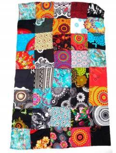 Pareo hippie patchwork estampado. FUHC01 para comprar al por mayor o detalle  en la categoría de Accesorios de Moda Hippie Bohemia | ZAS.