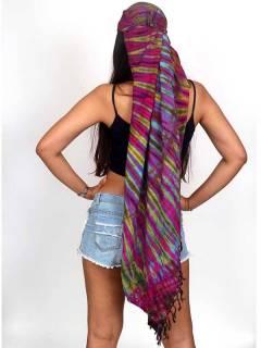 Tie Dye Multipurpose Triangular Shawl FUJU02 zum Kauf im Großhandel oder Detail in der Kategorie Hippie-Kleidung für Männer.