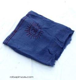 Pañuelos Fulares Pareos - Fular cuadrado hare rama, FUKA02 - Modelo Azul
