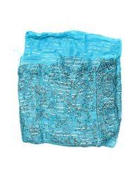 Pañuelos Fulares y Pareos - Foulard viscosa, cuadrado, FUKA07 - Modelo Azul 2