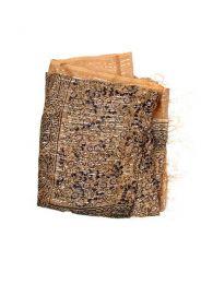Foulard viscosa, cuadrado, Mod Marrón