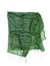 Pañuelos Fulares Pareos - Foulard viscosa, cuadrado, FUKA08 - Modelo Verde