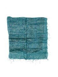 Foulard viscosa, cuadrado, Mod Azul az