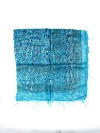 Foulard viscosa, cuadrado, Mod Azul tu