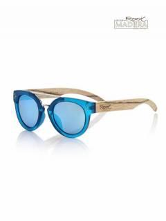 Gafas de sol de Madera ISLAND BLUE MX GFJA57 para comprar al por mayor o detalle  en la categoría de Complementos Hippies Alternativos.