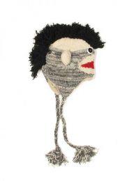 Gorros de lana hechos a mano Mod Mono punk gr