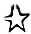 Falso dilatador con forma de estrella PIFL32 para comprar al por mayor o detalle  en la categoría de Bisutería Hippie Étnica Alternativa.