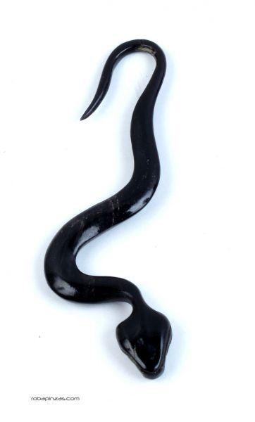 Pendiente dilatador en cuerno, serpiente. Enganche 2mm. Precio Comprar - Venta Mayorista y detalle