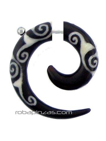 Falso expansor de cuerno de búfalo tallado [PIFLP05] para Comprar al mayor o detalle