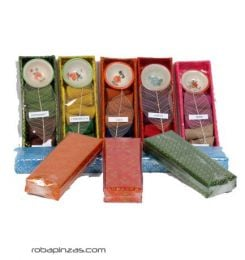 Incense - Incense cones in a rigid silk box. Varied aromas, includes [IN22] to buy in bulk or detail in the category of Handicrafts.