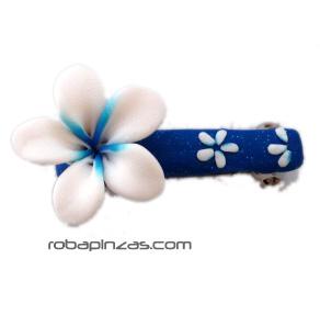 Pinza pelo cierre clip, motivos flores en fimo, a conjunto con Comprar - Venta Mayorista y detalle