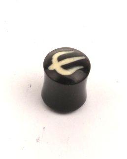 Plug tridente en cuerno de búfalo, grueso 14 - 22 mm PIPU14B para comprar al por mayor o detalle  en la categoría de Piercing Dilatadores Cuerno y Hueso.