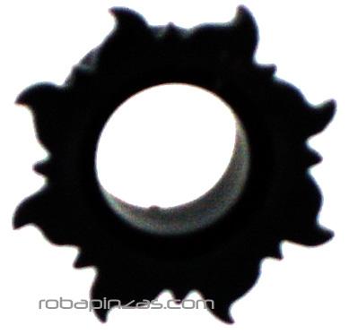 Plug tallado en cuerno de búfalo, motivo SOL. Tallas: 6-8-10-12-14 Comprar - Venta Mayorista y detalle