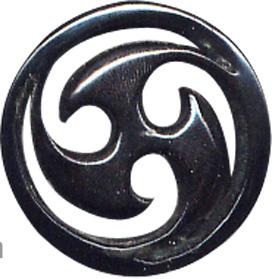 Plug tallado en cuerno de búfalo motivo triskel, tallas: 14-22 mm Comprar - Venta Mayorista y detalle