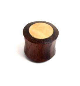 Plug de 14 a 22mm madera oscura-clara, precio unidad Comprar - Venta Mayorista y detalle