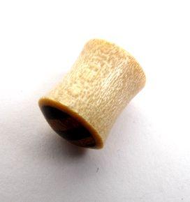 Plug de 4 a 12mm madera calra con madera rayada, precio unidad - detalle Comprar al mayor o detalle