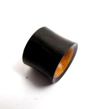 Plugs Madera Cuerno Hueso - Plug tunel de 14 a 22mm madera oscura-clara, precio unidad [PIPUMD05B] para comprar al por mayor o detalle  en la categoría de Piercing Dilatadores Cuerno y Hueso.