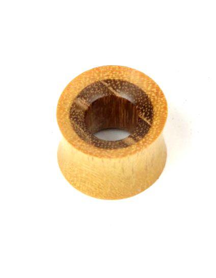 Plugs Madera Cuerno Hueso - plug hueco madera duo, plug realizado en madera de bamboo y sono [PIPUMD07B] para comprar al por mayor o detalle  en la categoría de Piercing Dilatadores Cuerno y Hueso.