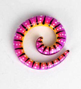 expansor dilatador espiral de madera decorada a mano, precio unidad Comprar - Venta Mayorista y detalle